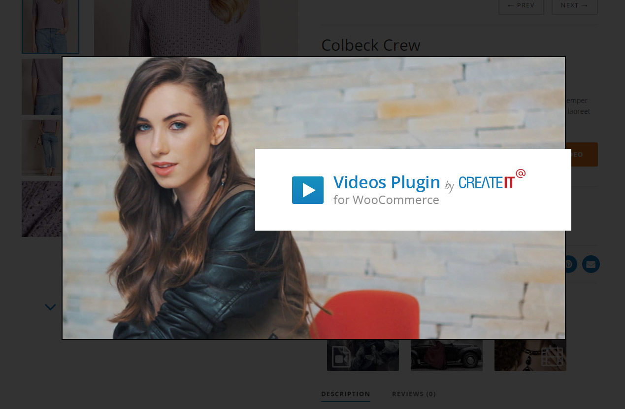 woocommerce add video to product gallery