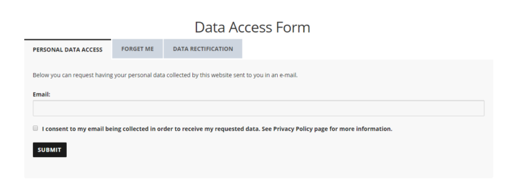 data access form
